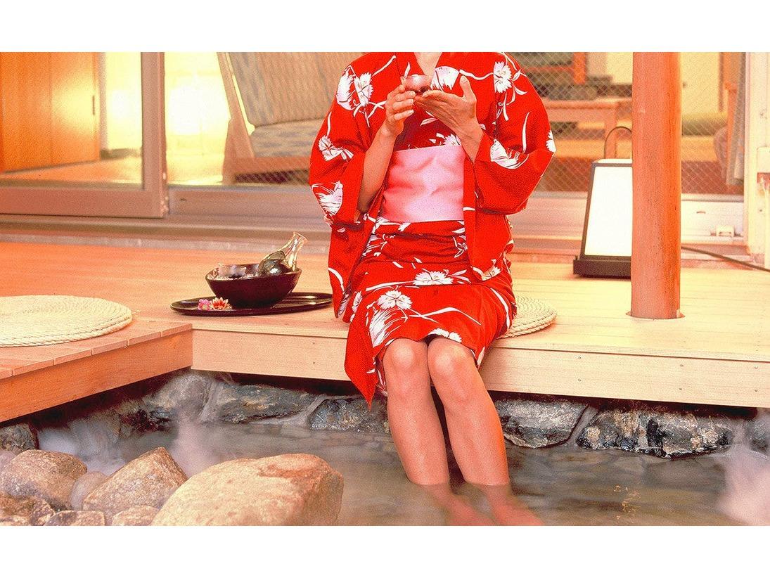庭に温泉露天風呂2つ♪温泉露天風呂付客室(12帖)