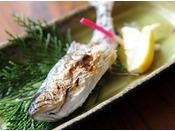 【焼物】鮎もしくは山女魚、時期により変わる。