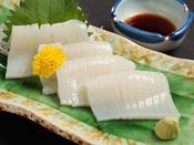 前浜の「イカ」は甘い!新鮮なお刺身で♪(※別注できます。要事前連絡)