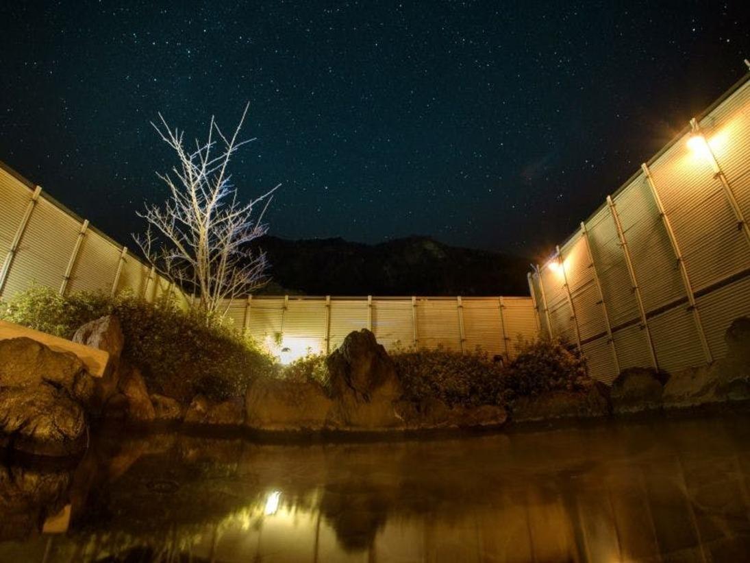 露天風呂から眺める満天の星空
