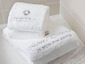 スーペリアフロア・プレミアムフロアには肌触りの良い今治産の正岡タオルを採用