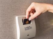 省エネスイッチ(カードキーを差すと部屋の電源ON。環境に配慮した「省エネスイッチ」を採用しています。)