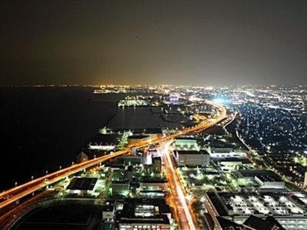 北側大阪方面の夜景です。