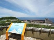 津軽海峡と道南の山並み