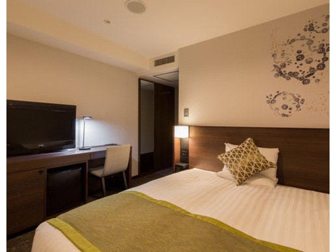 【スタンダードシングル・石見イメージ】14.9平米、ベッド幅は160cm♪ビジネス、観光に☆6F、7Fは石見をイメージした色調のお部屋。