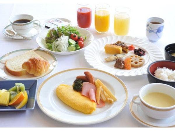 隣接の広島エアポートホテル朝食バイキング
