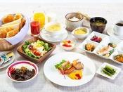 【ご朝食:和洋バイキング】盛付一例(06:30~09:30)
