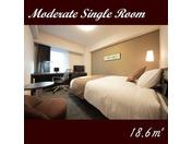 【モデレートシングル】18.62平米 セミクイーンベッド1台 ダブルルームとしてもご利用頂けます。