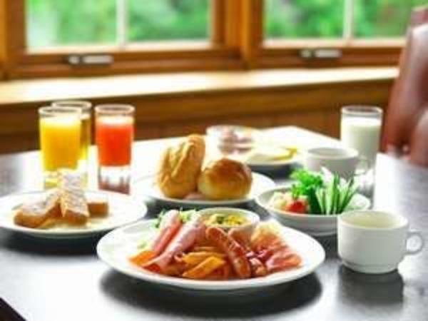朝食の和洋バイキング