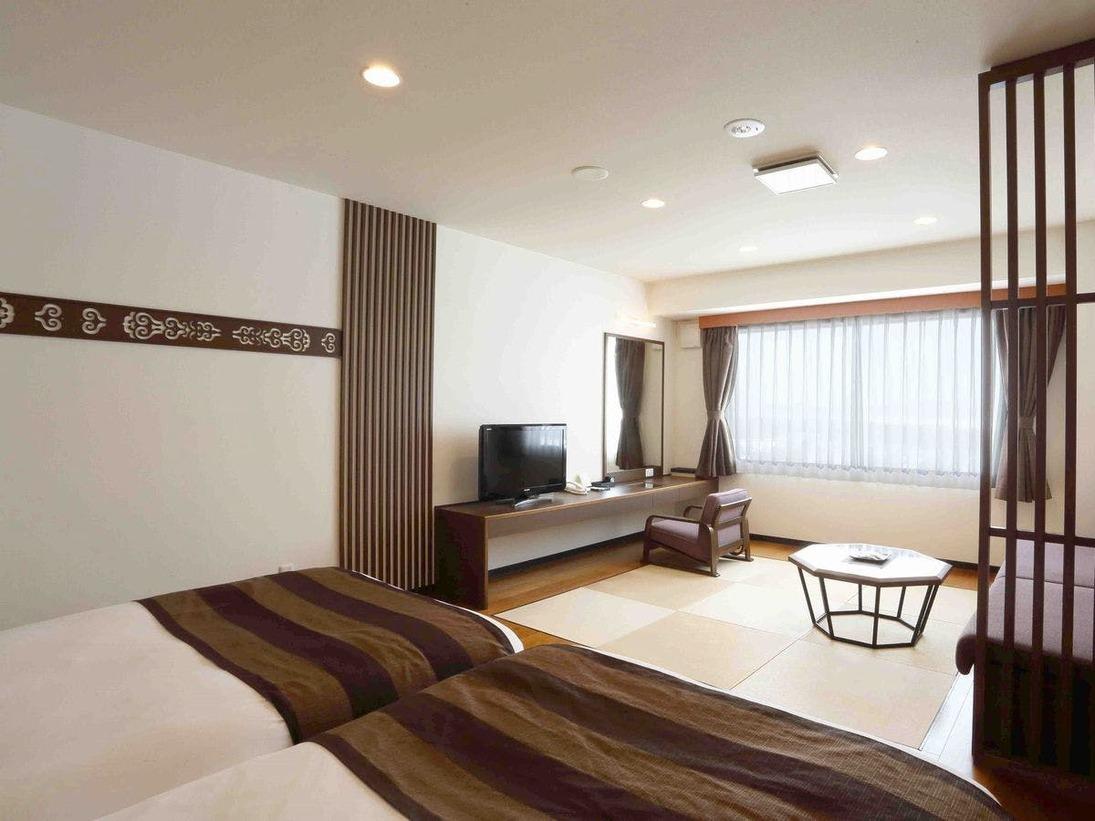 ◆【タワー棟】和洋室/オホーツク文様を随所に施した、モダンテイストのお部屋(客室一例)