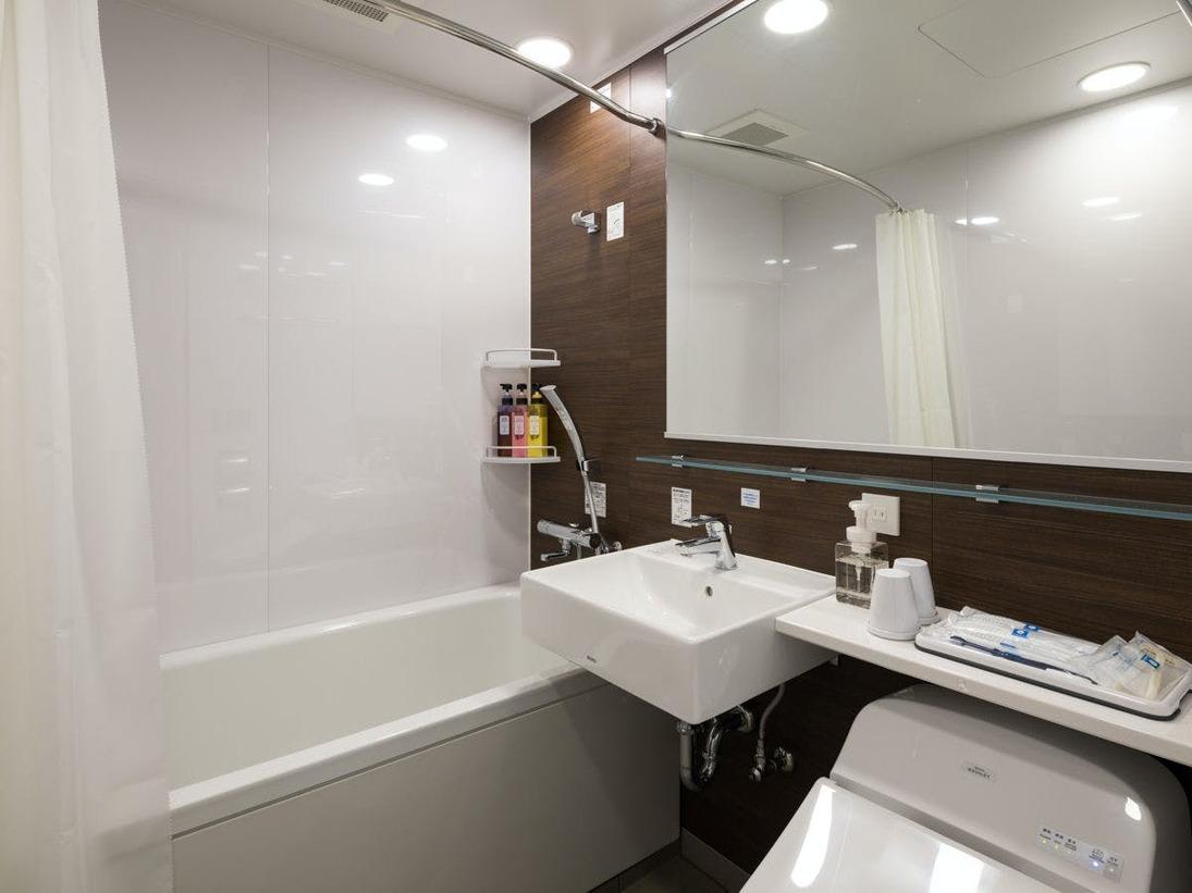 従来のコンフォートホテルよりも広くなったバスルーム