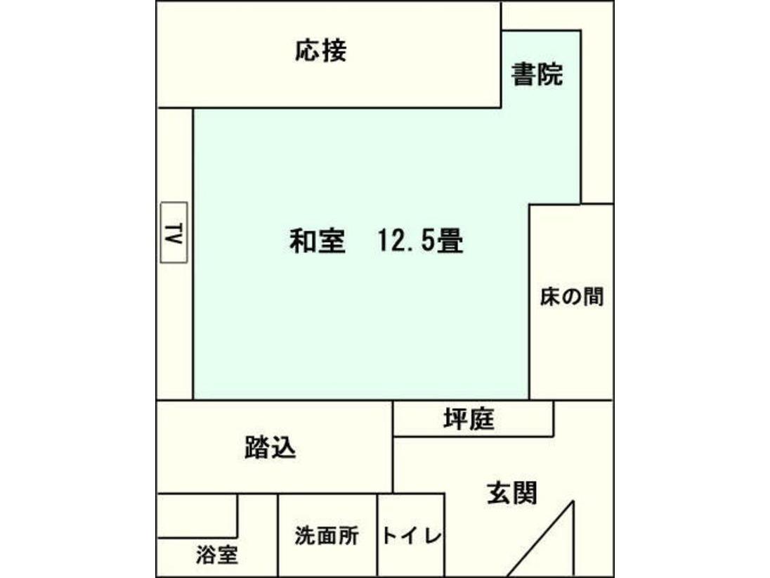 標準客室(12.5畳)間取り