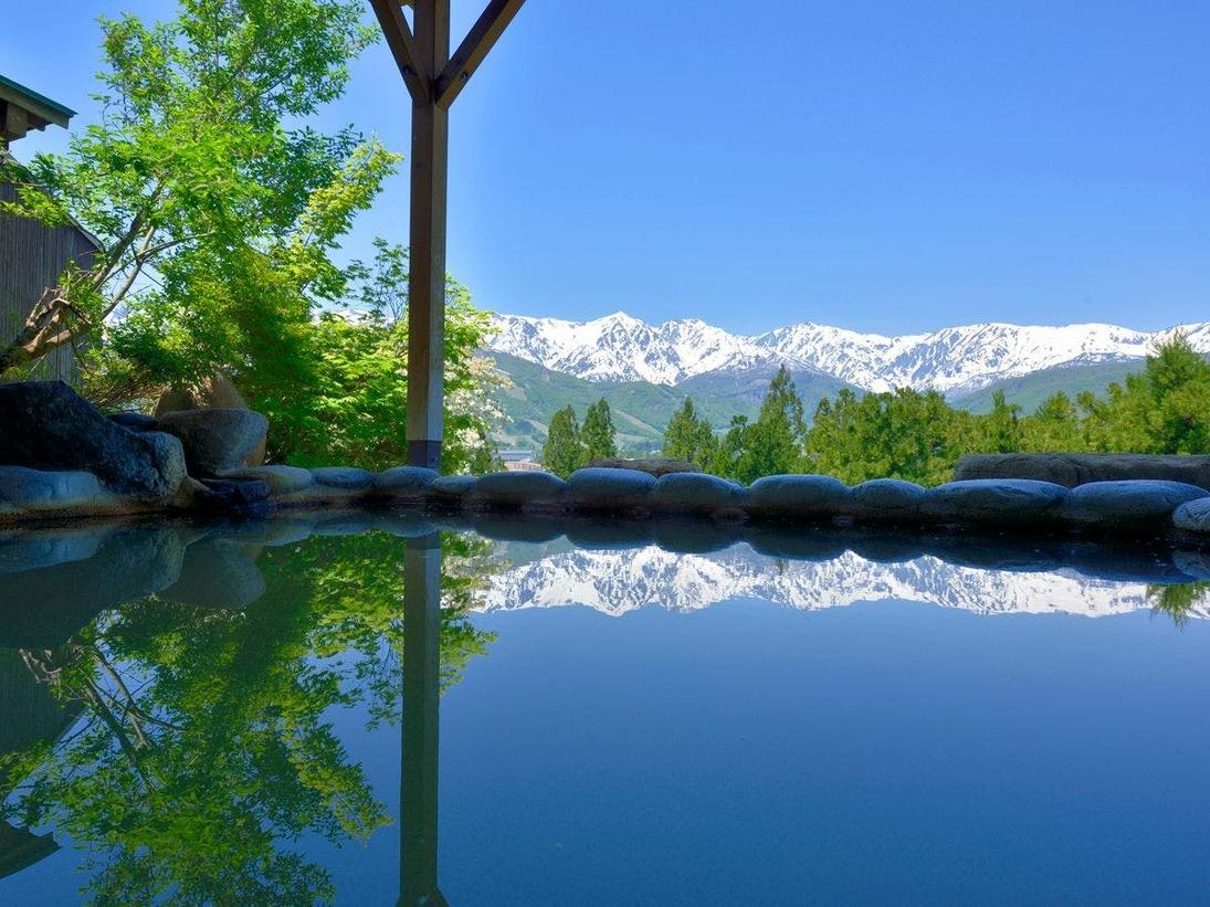 【天神の湯】お風呂の景色に感動したことがありますか?それも山で。それを叶えるのがこの露天風呂です。