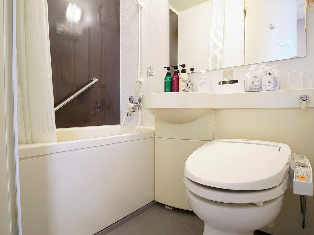 客室ユニットバス(当館には大浴場がございません)