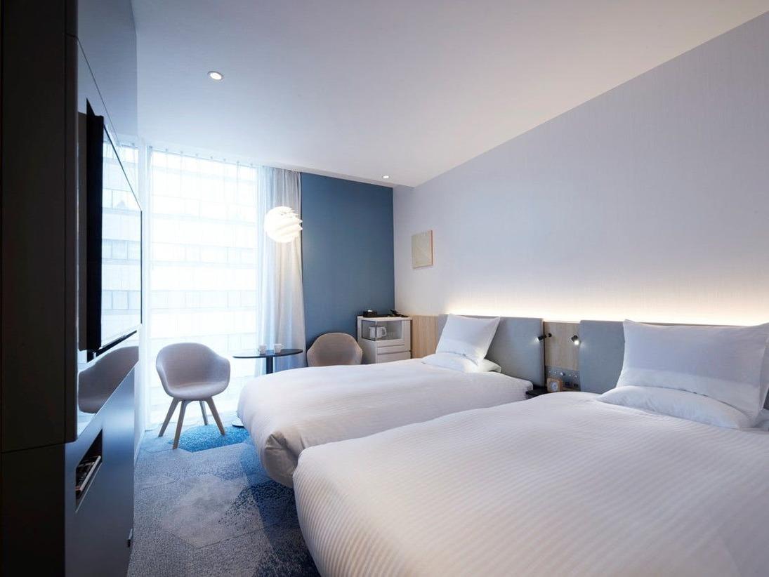 【客室】スーペリアツイン・部屋広さ…21m2・宿泊人数…1~2名・ベッド幅…120cm