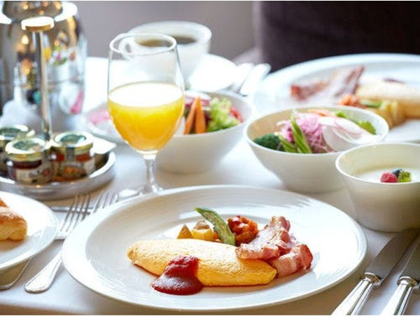 インルームダイニングの朝食(アメリカン)