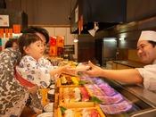 *【和風海鮮バイキング】「磯魚」 お寿司大好き!