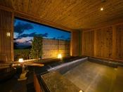 添水の音が奏でる癒しのひととき。炭平最大の客室用露天風呂を有する特別室 玉響