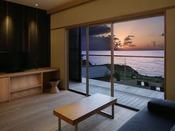 【さゞ波】新客室 さゞ波から眺めるオーシャンビューの絶景水平線に奏でる海の情景をお楽しみください