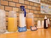 北海道産のおいしい牛乳もご準備しています♪