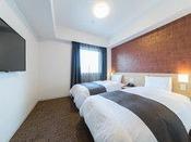◇禁煙◇ツインルーム 18平米  ベッド110×195センチ※7-12階 客室TVは42インチ♪