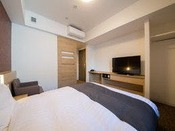 ◇禁煙◇クイーンルーム 18平米 ベッド160×195センチ※2-6階 客室TVは42インチ♪