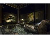 【貸切温泉 月見-tukimi-】一本松の坪庭と岩風呂を独占し月を楽しむ