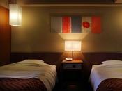 【和洋室 海側眺望 禁煙】和洋室のベッドルームです。おしゃれに生まれ変わりました。