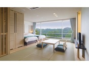 イーストウイング1F~4F山側客室例