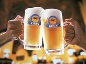 キリン満点生の店に選ばれた生ビールで乾杯!!(ホテルレストランでは中ジョッキを使用しています)