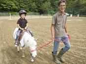 秋保森林スポーツ公園内の引き馬体験