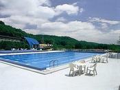 秋保森林スポーツ公園内の屋外プール(季節営業)