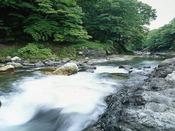 ホテル眼下の名取川