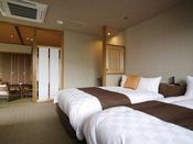 【和みフロア】展望檜風呂付特別室B~ツインベッド