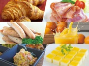 約40品の朝食 和・洋バイキング(6:45~9:00)
