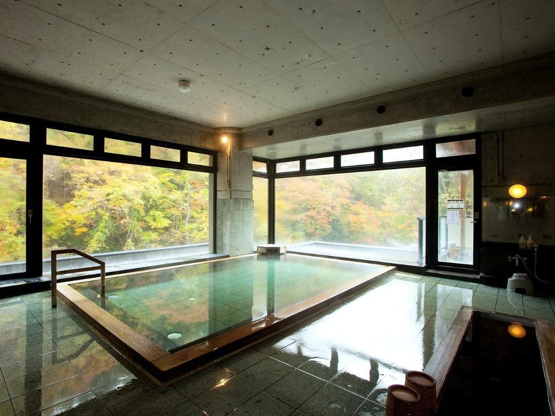 秋の景色 山水の湯