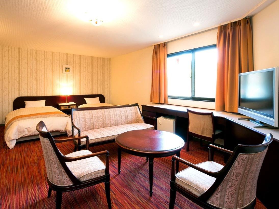 【DXコンフォート】備品から寝具まで、細部にこだわったお部屋です。贅沢なひと時をお過ごしください。