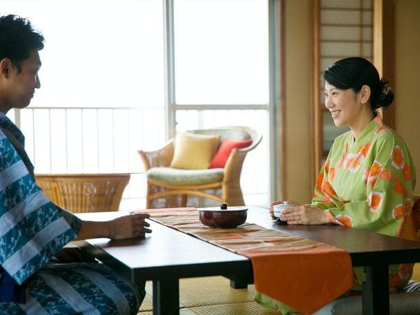 ◆全ての客室から眺められる海景色♪