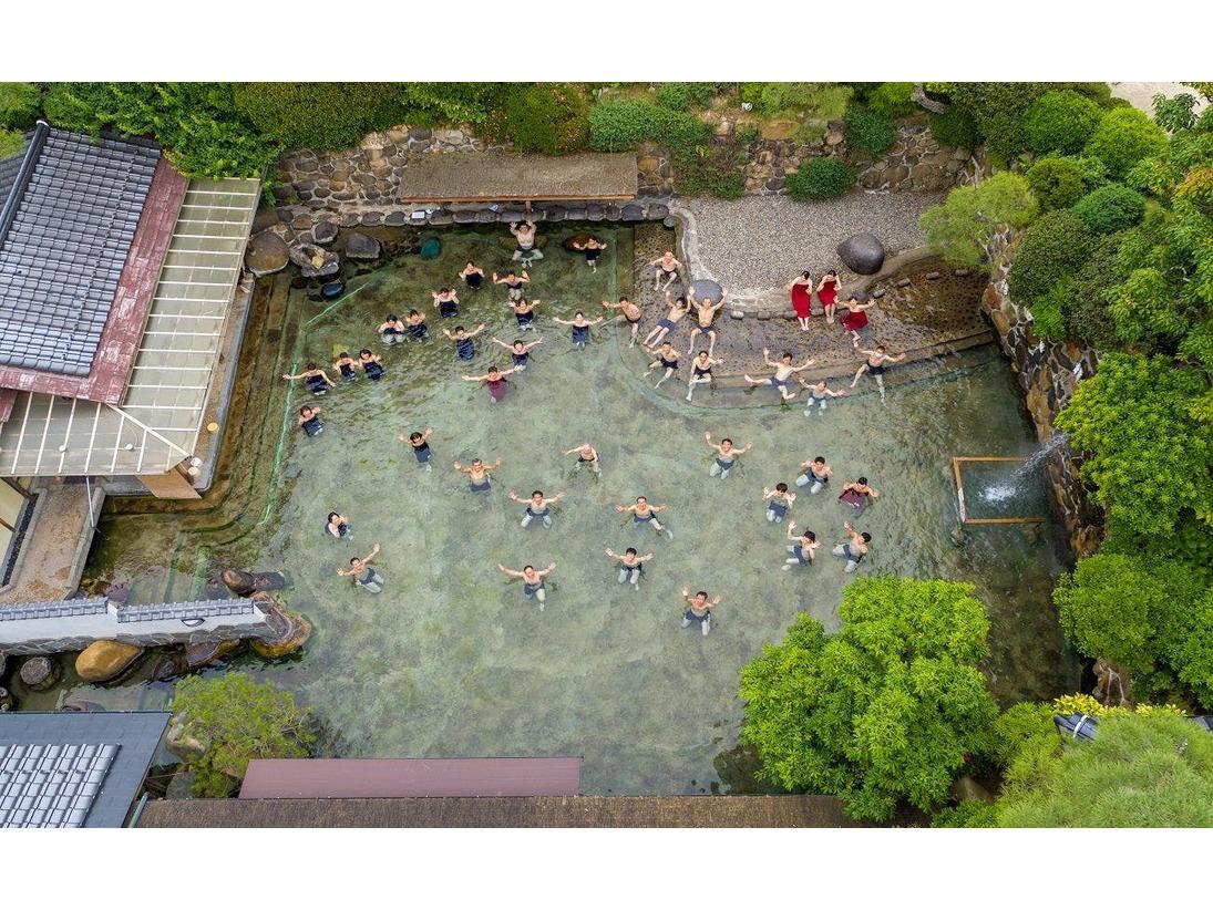 120坪の混浴大露天風呂【龍宮の湯】