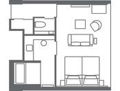 【エグゼクティブツイン(42.0平米)】客室レイアウト一例