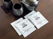 【アメニティ(お茶)】:ほうじ茶と煎茶の2種類を用意しております。