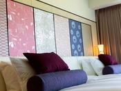 【京からかみ】平安時代からの歴史を持つ京からかみを使用した客室で皆様をお迎え致します
