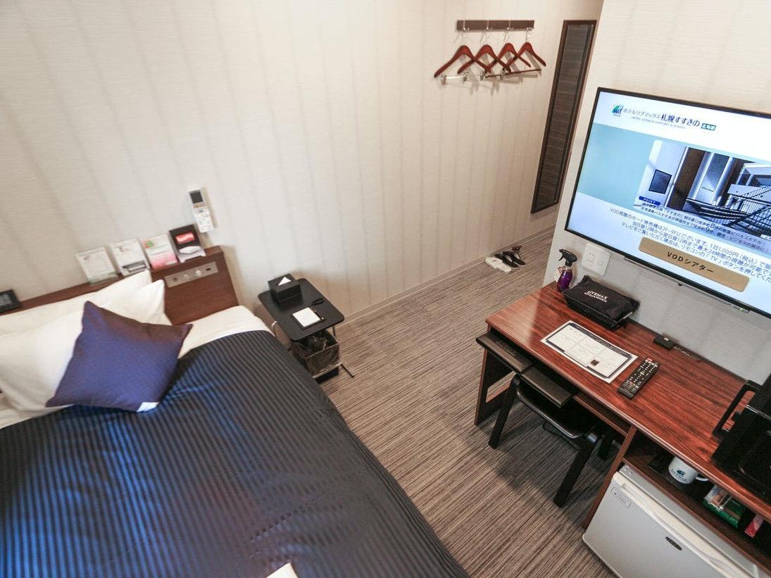 全室4K対応テレビ・スランバーランド製ベッドを導入しております。