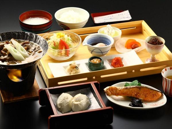 朝食 和食膳一例 ほっこり温泉宿の朝