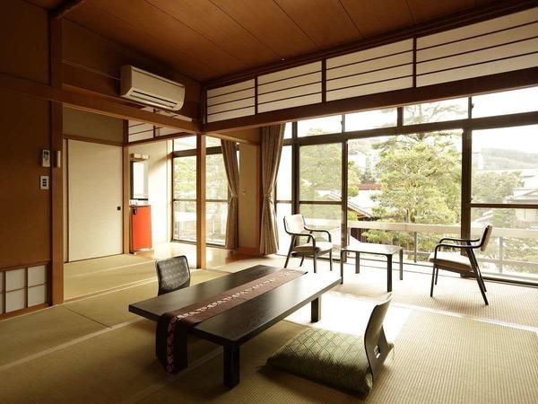 華清閣:一部屋ごと異なる景色が楽しめます