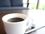 4月-11月はロビーにモーニングコーヒーあり(サービス)