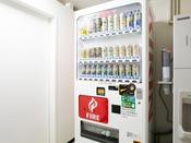 4階の自動販売機はアルコールのみです。