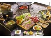 夕食は、田楽や、阿蘇のあか牛を囲炉裏で召し上がっていただきます