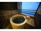 海の棟 客室露天風呂一例