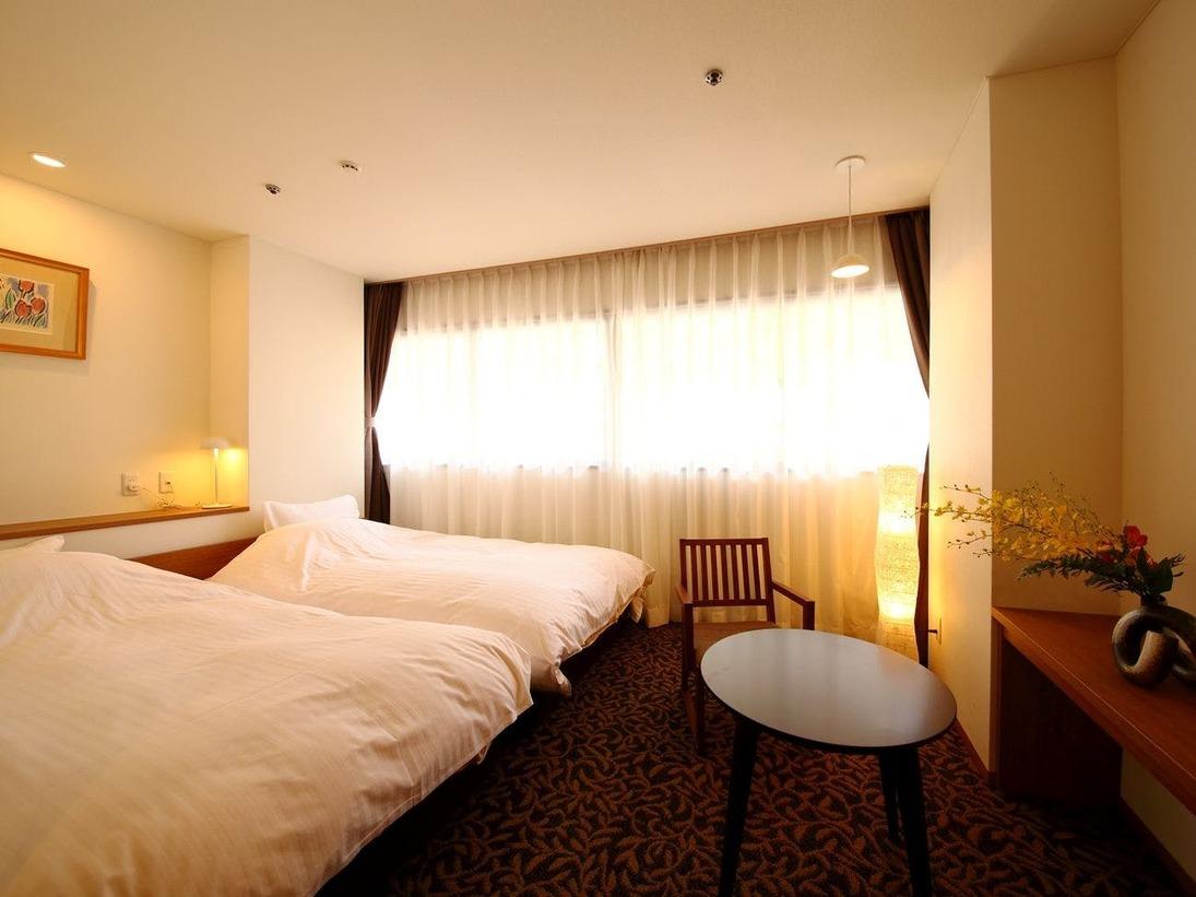 ◆リニューアルツイン◆リーズナブルな2名向け客室。畳や布団が苦手なお客様にもおすすめです☆